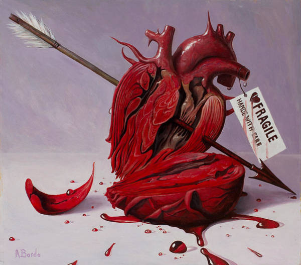 Pain Painting - Fragile - Handle With Care by Adrian Borda