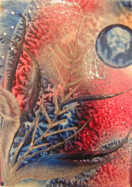 Atc Painting - Fragile by John Vandebrooke