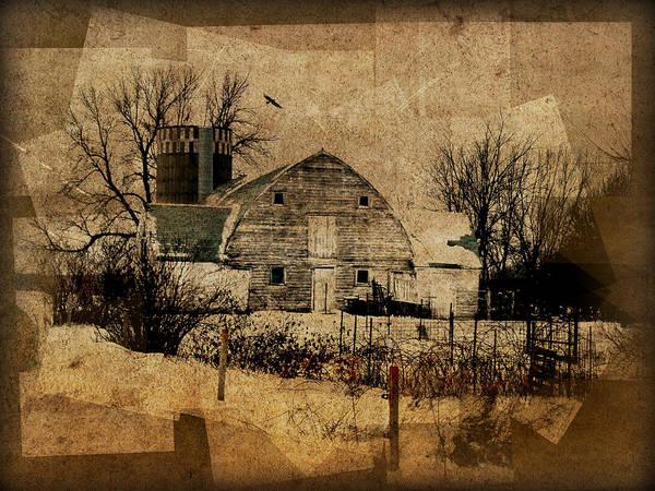 Fragmented Barn  Art Print