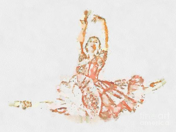 Painting - Fragmented Abstract Visual Ballerina by Catherine Lott