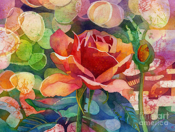 Peach Flower Wall Art - Painting - Fragrant Roses by Hailey E Herrera