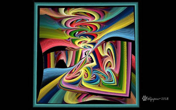 Julian Digital Art - Framed Julian Disc by Peggi Wolfe