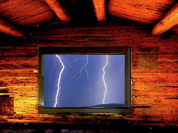 Photograph - Framed Lightning by Frank Vargo