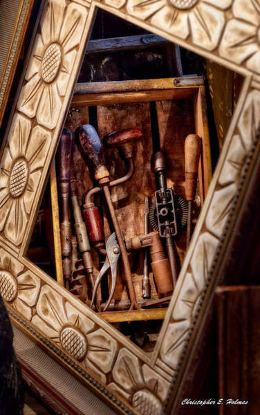 Photograph - Framed Tools by Christopher Holmes