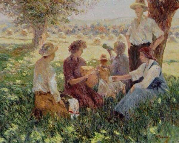 Painting - France Country Life  by Pierre Van Dijk