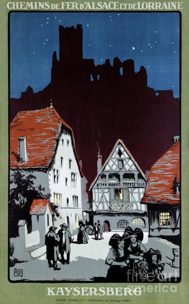 European Vacation Mixed Media - France Kaysersberg Restored Vintage Travel Poster by Vintage Treasure