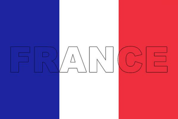 Francaise Digital Art - France On A Flag by Roy Pedersen