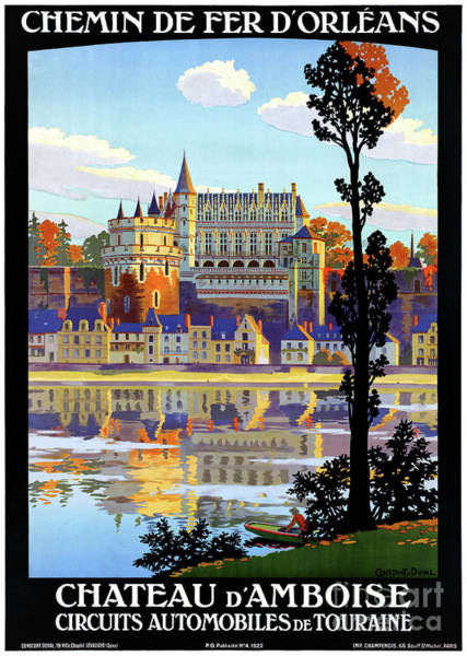 European Vacation Mixed Media - France Orleans Restored Vintage Travel Poster by Vintage Treasure