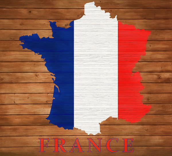 Wall Art - Mixed Media - France Rustic Map by Dan Sproul