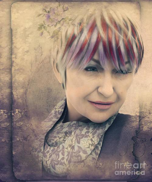 Fading Digital Art - Francesca by Jutta Maria Pusl