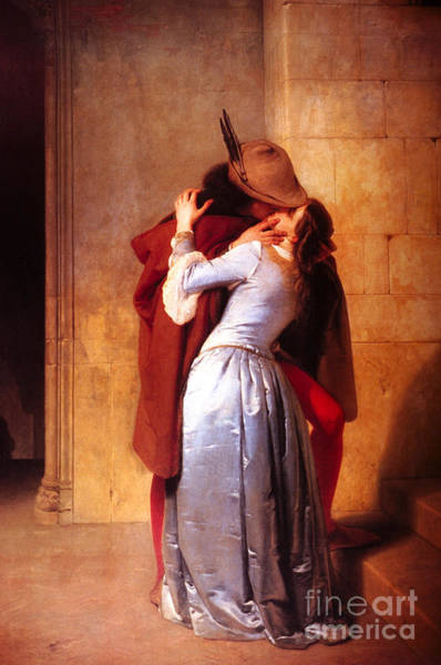 Reproduction Wall Art - Painting - Francesco Hayez Il Bacio Or The Kiss by Pg Reproductions