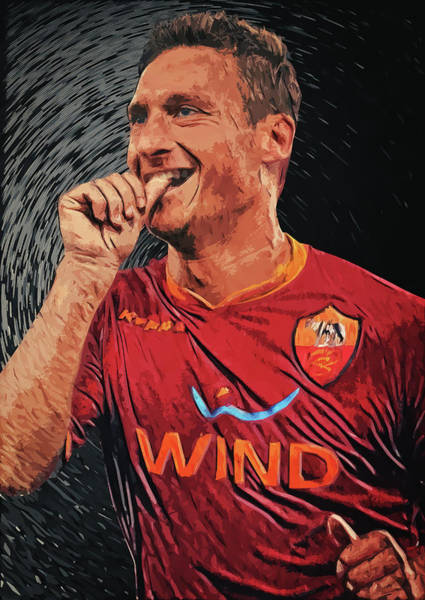 Digital Art - Francesco Totti by Zapista Zapista