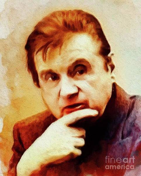 Bacon Wall Art - Painting - Francis Bacon, Famous Artist by John Springfield