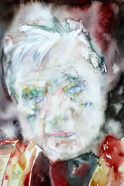 Francis Bacon Wall Art - Painting - Francis Bacon - Watercolor Portrait.2 by Fabrizio Cassetta