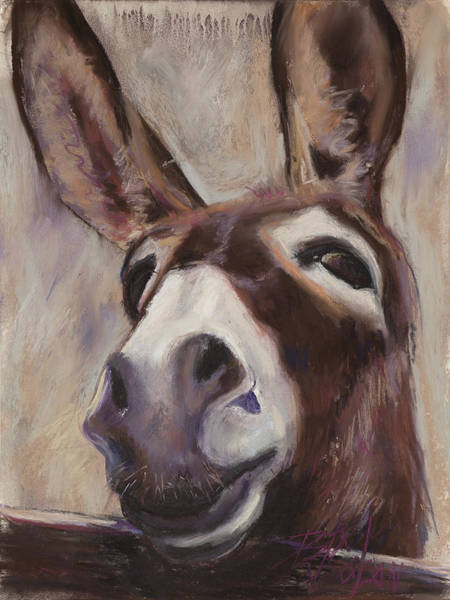 Donkey Painting - Francis by Billie Colson