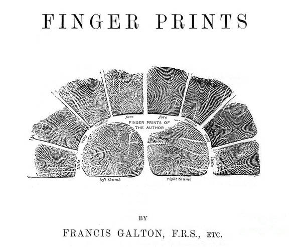 Photograph - Francis Galtons Fingerprints, 1892 by Wellcome Images