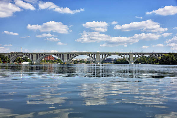 Wall Art - Photograph - Francis Scott Key Bridge Over The Potomac River by Brendan Reals