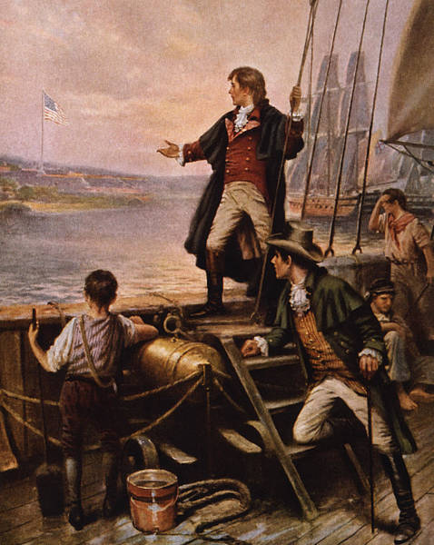 Francis Painting - Francis Scott Key - Star Spangled Banner by War Is Hell Store
