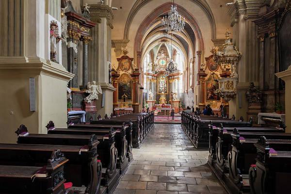 Bratislava Photograph - Franciscan Church Interior In Bratislava by Artur Bogacki