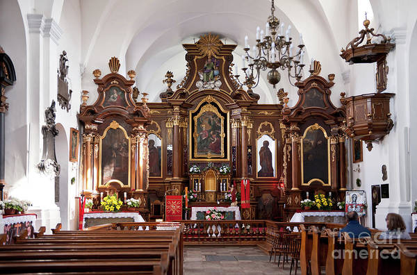 Wall Art - Photograph - Franciscan Monastery Church Interior by Arletta Cwalina