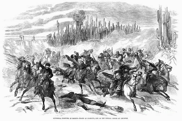 Drawing - Franco Mexican War, 1865 - To License For Professional Use Visit Granger.com by Granger