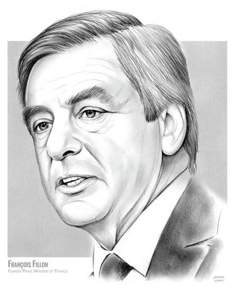 Conservative Wall Art - Drawing - Francois Fillon by Greg Joens