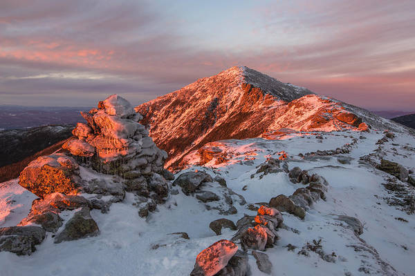 Franconia Notch Wall Art - Photograph - Franconia Ridge Alpenglow by Chris Whiton