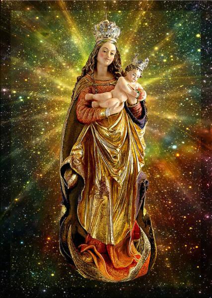 Wall Art - Mixed Media - Franconian Madonna And Infant Jesus by Ananda Vdovic
