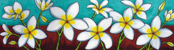 Painting - Frangipani Delight by Lisa  Lorenz