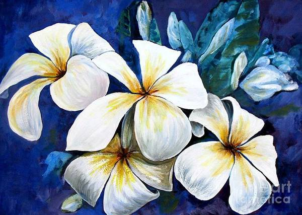 Painting - Frangipani by Ryn Shell