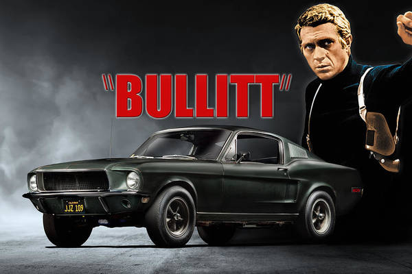 Iconic Digital Art - Frank Bullitt by Peter Chilelli