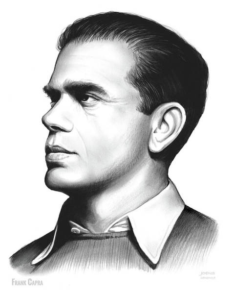 Movie Drawing - Frank Capra by Greg Joens