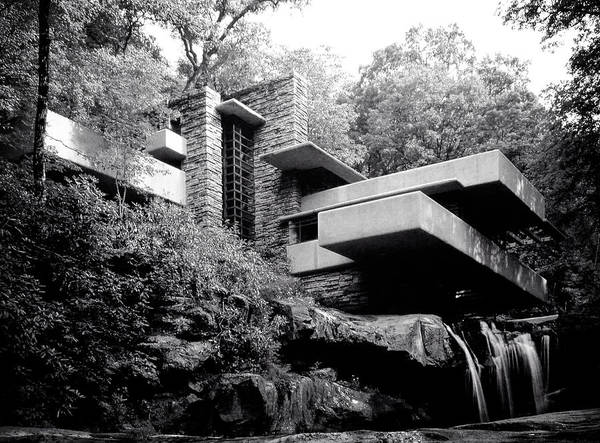Wall Art - Photograph - Frank Lloyd Wright's Falling Water Architectural Masterpiece C. 1940 by Daniel Hagerman