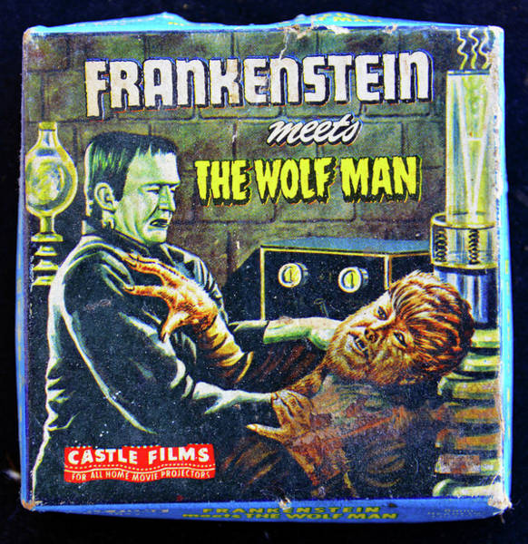 Frankenstein Monster Photograph - Frank Meets Wolfy 1943 by David Lee Thompson