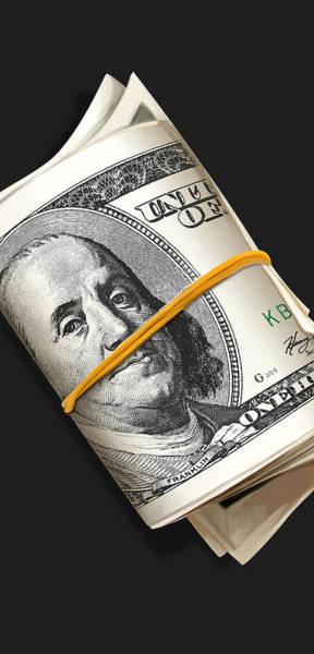 Money Digital Art - Frank Rolls by Canvas Cultures