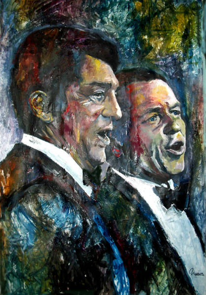 Style Painting - Frank Sinatra And Dean Martin by Marcelo Neira