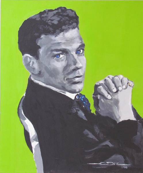Painting - Frank Sinatra Blue by Eric Dee
