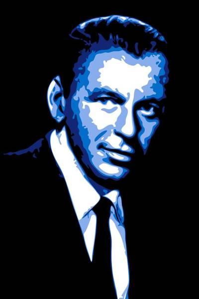 Blue Eye Digital Art - Frank Sinatra by DB Artist