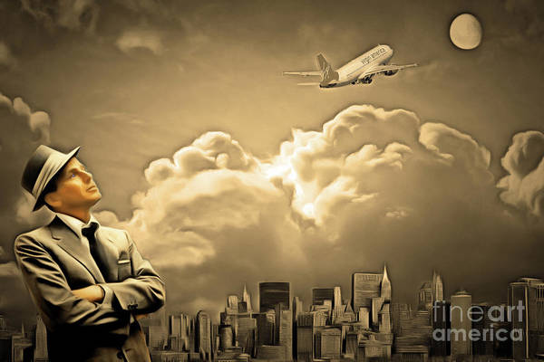 Photograph - Frank Sinatra Fly Me To The Moon 20170506 V2 by Wingsdomain Art and Photography