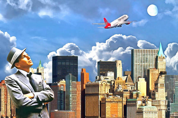 Photograph - Frank Sinatra Fly Me To The Moon New York 20170506 V4 by Wingsdomain Art and Photography