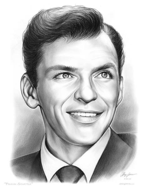 Eye Drawing - Frank Sinatra by Greg Joens
