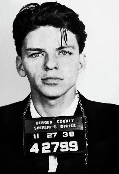 Frank Sinatra Mugshot Art Print