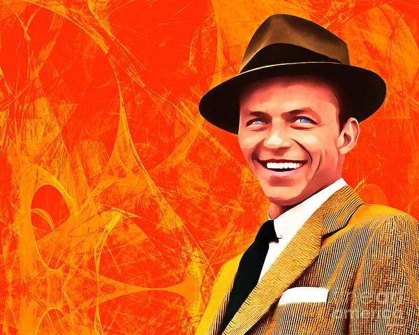 Photograph - Frank Sinatra Old Blue Eyes 20160922hor by Wingsdomain Art and Photography