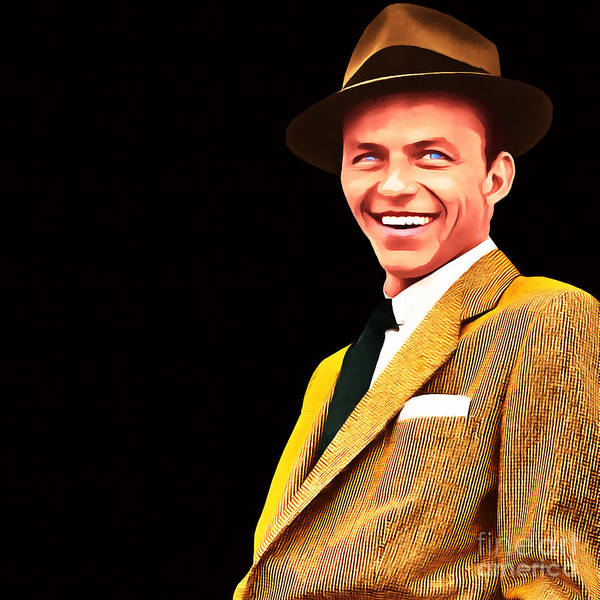 Photograph - Frank Sinatra Old Blue Eyes 20160922v2 Square by Wingsdomain Art and Photography