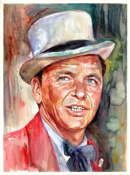 Wall Art - Painting - Frank Sinatra Portrait by Suzann Sines