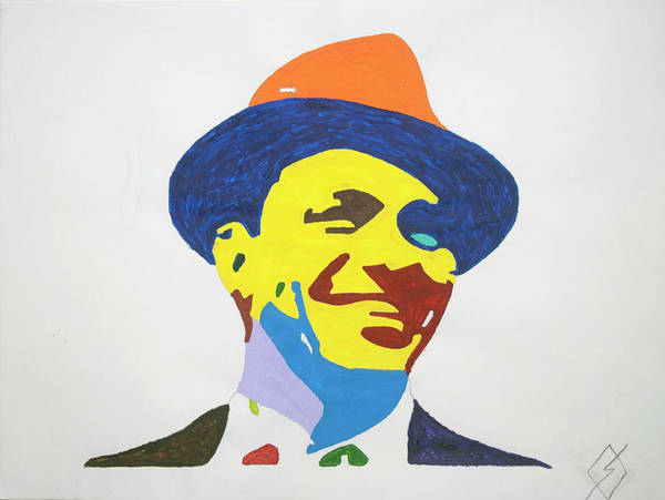 Wall Art - Painting - Frank Sinatra Smile by Stormm Bradshaw