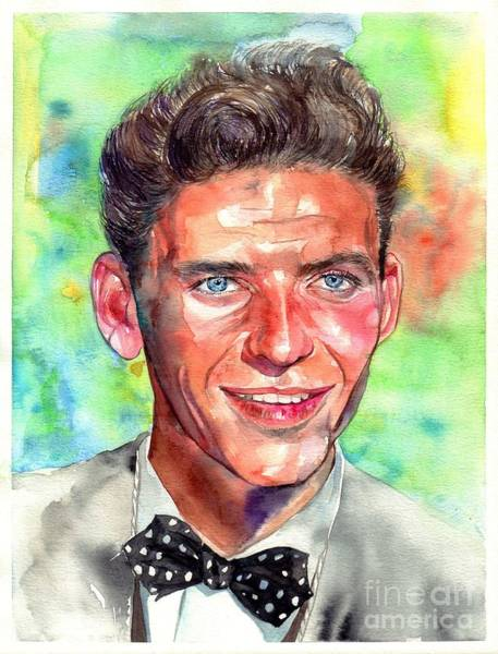 Cinematography Painting - Frank Sinatra Young Painting by Suzann Sines