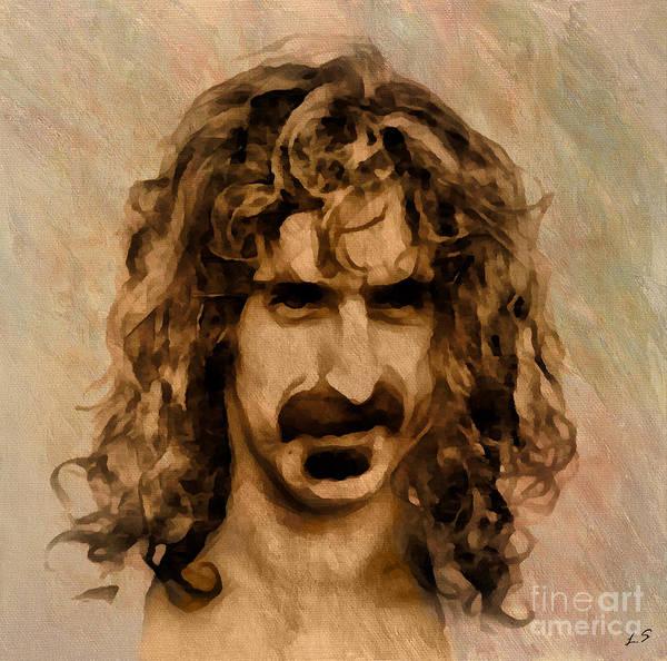 Frank Zappa Wall Art - Drawing - Frank Zappa Collection - 1 by Sergey Lukashin