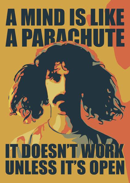 Frank Zappa Wall Art - Digital Art - Frank Zappa by Greatom London