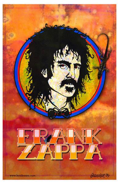 Frank Zappa Wall Art - Digital Art - Frank Zappa by John Goldacker